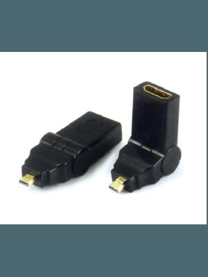 Optimus adapter HDMI ženski na mini HDMI muški rotacioni, crni