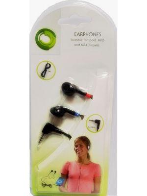 Audio slušalice, stereo slušalice 3.5mm konektor,  100db+/-3db, 1,2m, crne
