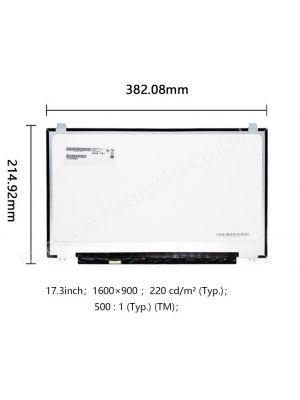 Laptop TFT-LCD ekran panel, 17.3