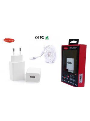 Optimus zamjenski punjač 10w (5v-2a) + usb data kabel ravni, kompatibilno s Iphone 5/6/7, Ipad mini