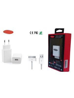 Optimus zamjenski usb punjač 10w (5v-2a) + usb data kabel 2m, kompatibilno s Iphone 4/Ipad 2