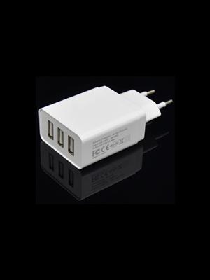 Optimus travel charger 3xusb output, 2xSmart IC:12w (5v-2.4a)