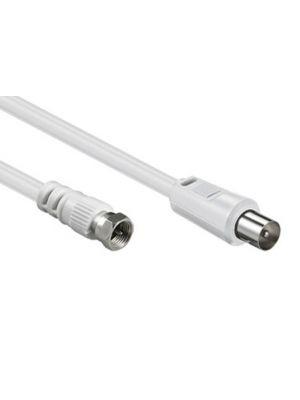Optimus koaksijalni antenski RF na F kabel muški/muški, 1.5m, bijeli