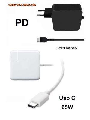 Optimus PD (power delivery) brzi punjač, 65w (5v/3a, 9v/3a, 12v/3a, 15v/3a, 20v/3.25a) kompatibilno s Hp