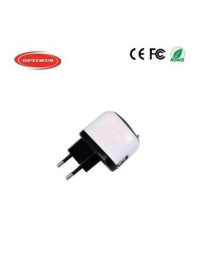 Optimus travel charger 1xusb output, 5w (5v-1a)