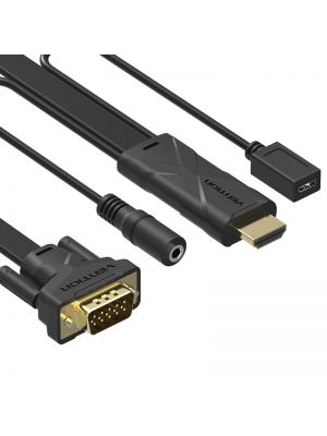Vention HDMI na VGA kabel konverter+audio kabel+napajanje